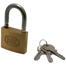 Stainless Steel Shackle W Lock Padlock, Different Key Number