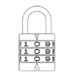 Round Code Lock and Identical Key