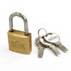 Dimpled Padlock, Different Key Number