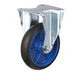 Low Starting Resistance Caster LR-WK Type Rubber Wheel Attachment Type with Fixed Hardware