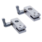 Flexible Sensor Bracket, Mounting Base: Aluminum, Wedge Mounting Base C, with Clamp Lever (for Round Shafts/Square Shafts)