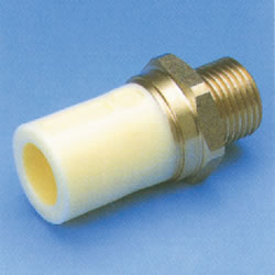 JFE Polybutene Pipe H Type Fitting (Heat Fusion Type) Male Thread Socket (Integrated)
