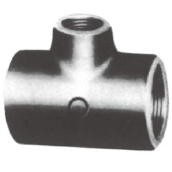 Screw-In PL Fitting, Reducing Tee (Small Branch Diameter)