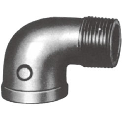Screw-In Malleable Cast Iron Pipe Fitting, Street Elbow (with Collar)