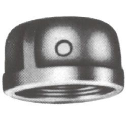 Screw-In Malleable Cast Iron Pipe Fitting, Cap with Collar