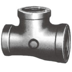 Threaded Pipe Fittings Made Up of Malleable Cast Iron with Connections and Tees with Reducing (with Only 1 Big Passage for water Flow)