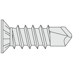 Rib TH Screw/Drill Screw Bright Chromate
