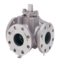 Stainless Steel General-Purpose 10K Ball Valve (Three-Way) Flange