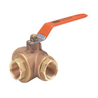 Bronze General-Purpose Type 400 Ball Valve (Three-Way) Screw-in