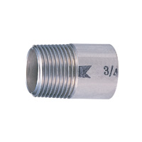 Stainless Steel Single Nipple Fittings - Screw-in