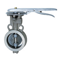 Stainless Steel UB (SCS13A/PTFE+SUS304) 10K Butterfly Valve (Lever)