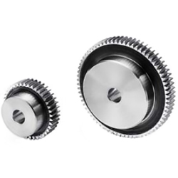 Polished flat gear, m0.5, S45C type
