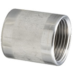 Stainless Steel Screw-In Pipe Fitting, Straight Socket [S]