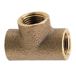 Auxiliary Material for Piping, Fitting, and Plumbing, Fitting for Water Supply Piping, Gunmetal Tees
