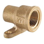 Copper Tube Fitting, Copper Tube Fitting for Hot Water Supply, Long-Neck Water Faucet Socket with Copper Tube Shoulder Seat