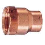 Copper Tube Fitting, Copper Tube Fitting for Hot Water Supply, Copper Tube Internal Threaded Adapter