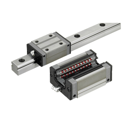 Linear Guides for Super Heavy Load - With Plastic Retainers, Interchangeable, Light Preload