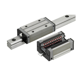 Linear Guides for Extra Super Heavy Load - With Plastic Retainers, Interchangeable, Light Preload