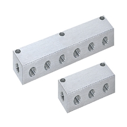 Manifold Blocks - Pneumatic - Lateral and Vertical Through Hole / Lateral Through Hole, Upper Hole