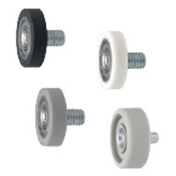 Silicon Rubber / Urethane Molded Bearings - Threaded Flat