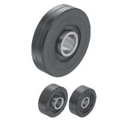 Urethane Molded Bearings - Inner Wheel Protruded (For Light Load)