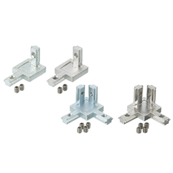 Brackets Series 5 (Slot Width 6mm)/Corner Blind 20mm Square/Two-Way Type