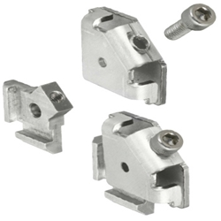For 5 Series (Slot Width 6mm) Aluminum Extrusions - Post-Assembly Insertion Easy Brackets