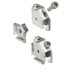 For 6 Series (Slot Width 8mm) Aluminum Extrusions - Post-Assembly Insertion Easy Brackets