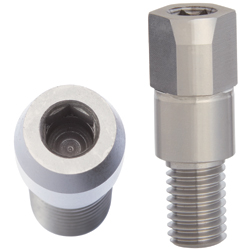 Locating Pins - Large Head, Tapered - Threaded, Hex Socket