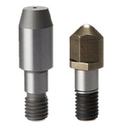 Locating Pins for Fixtures - Tip Shape Selectable, Precision Grade, No Shoulder - Threaded