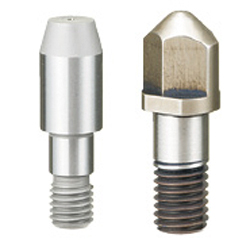 Locating Pins for Fixtures - Tip Shape Selectable, Standard Grade, No Shoulder - Threaded