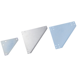 Sheet Metal Bracket For 5 Series (Slot Width 6mm) Aluminum Extrusions - Triangle-Shaped