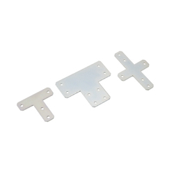 Sheet Metal Bracket For 6 Series (Slot Width 8mm) Aluminum Extrusions - T-Shaped/Cross-Shaped