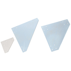 Sheet Metal Bracket For 8-45 Series (Slot Width 10mm) Aluminum Extrusions - Triangle-Shaped