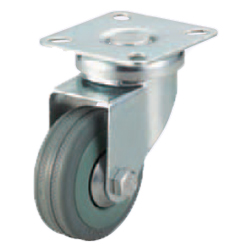 Casters -Light Load- Wheel Material: Rubber - Swivel Type