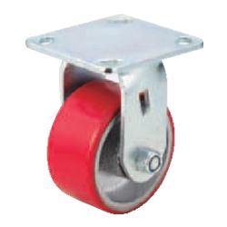 Casters - Heavy Load - Wheel Material: Urethane - Fixed Type