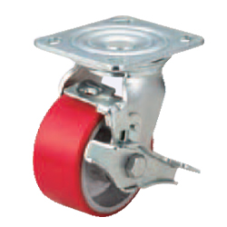 Casters - Heavy Load - Wheel Material: Urethane - Swivel Type + Stopper