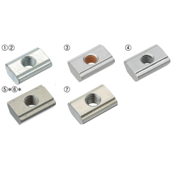 For 6 Series (Slot Width 8mm) - Post-Assembly Insertion - Stopper Nuts