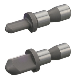 Locating Pins for Fixtures - Square Head Locating Pins - Tip Shape Selectable - Shouldered / No Shoulder - Set Screw