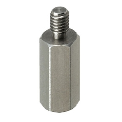 Small Dia. Hex Posts - One End Threaded One End Tapped