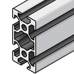 Aluminum Extrusion 5 Series/slot width 6/25x50mm, Parallel Surfacing