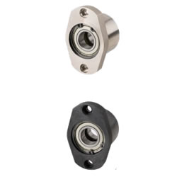 Bearings with Housings - Cast Iron, Space Saving, Double Bearings
