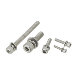 Hex Socket Head Cap Screws with Captured Washer - Standard, Material: SUS316L