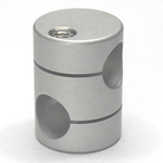 Round Pipe Joint Same-Diameter Hole Type with 90° Cross Hole (2 Point Top- and-Bottom Fastening)