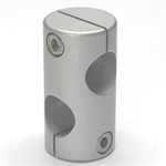 Round Pipe Joint Different-Diameter Hole Model with 90° Cross Hole
