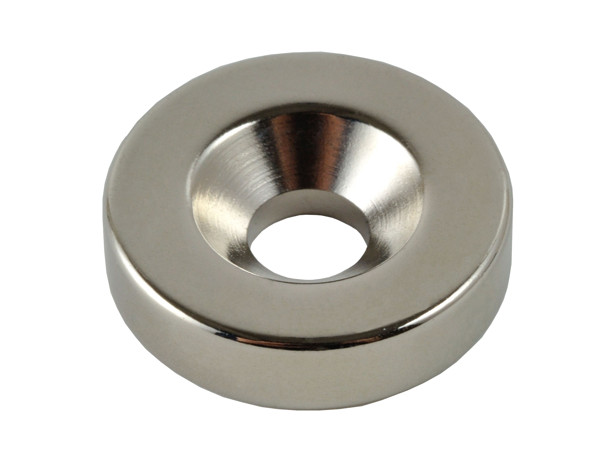 Cylindrical Neodymium Magnet With Countersunk Hole