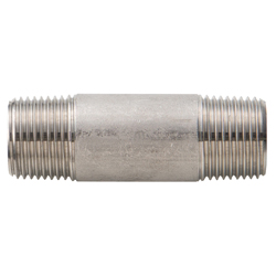 Stainless Steel Screw-in Fitting, Double End Long Nipple, NL