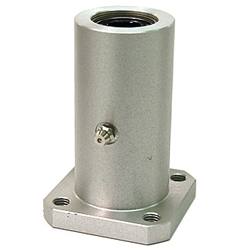 Linear Bushing Housing With Flange, LFWK-OH Type, Double, Rectangular Flange, Aluminum Case, With Lubrication Hole