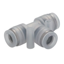 Tube Fitting PP, Corrosion-Resistant SUS303 Equivalent Fitting, Union Tee