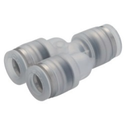 Tube Fitting PP, Corrosion-Resistant SUS303 Equivalent Fitting, Union Y